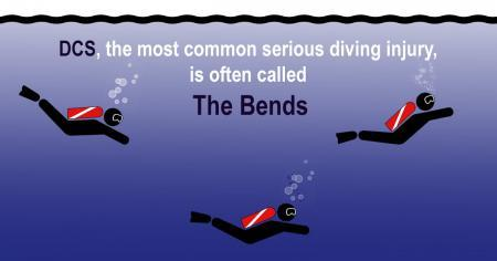 DCS the most common serious diving injury is often called The Bends intro