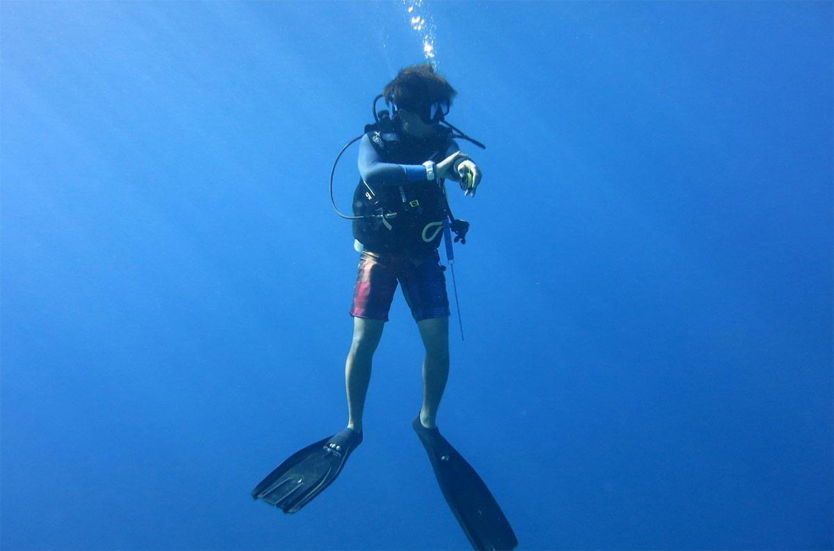 safety stop diving