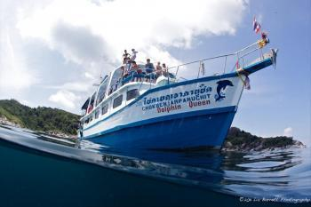 MV Dolphin Queen Myanmar Burma Similan Islands liveaboard from the surface