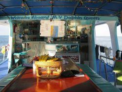 MV Dolphin Queen Myanmar Burma Similan Islands liveaboard dining self service area main deck