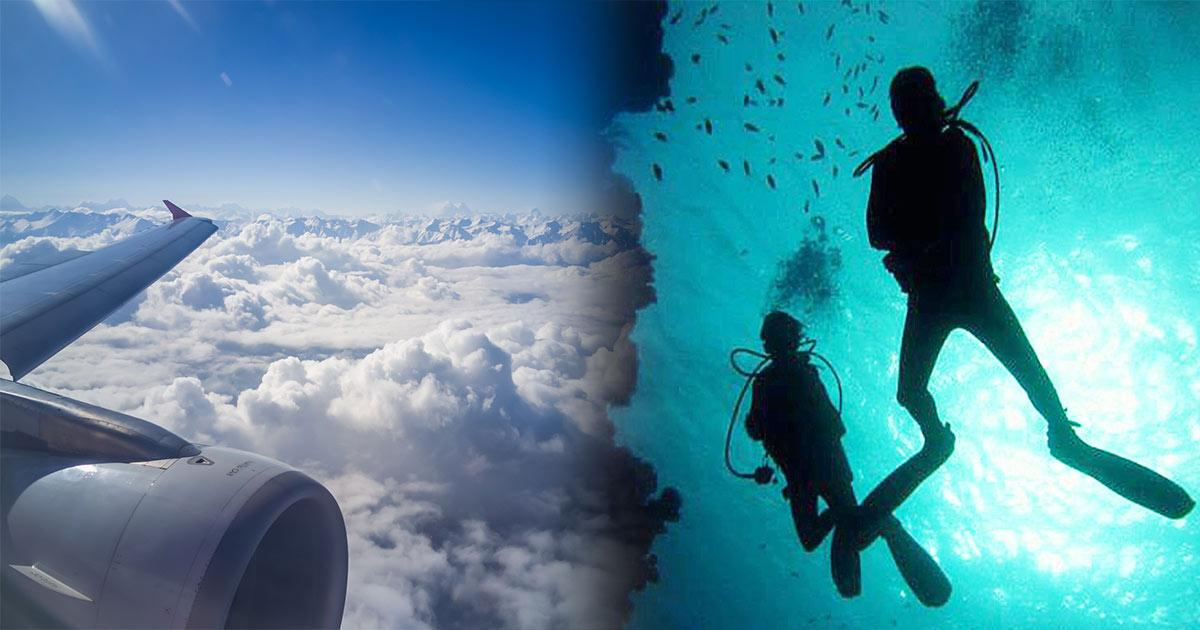 Scuba Diving After Flying is Ok but NOT Flying After Diving
