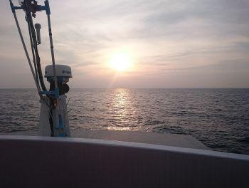 sunset from a liveaboard