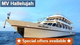 Hallelujah liveaboard 10 percent discount for early booking