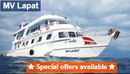 Lapat liveaboard 10 percent discount for early booking