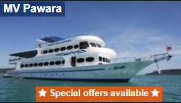Pawara liveaboard 10 percent discount for early booking
