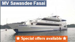Sawasdee Fasai liveaboard 10 percent discount for early booking