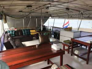 Miss Moon liveaboard diving Richelieu Rock Surin Islands outdoor lounge area